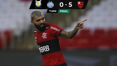 Con Gabigol en modo 'killer' el Flamengo se impuso a Bahía
