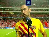 Sergio Busquets admite que Barcelona está en situación critica y es culpa de todos