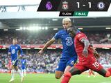 Liverpool empata ante Chelsea que jugó 45 minutos con un hombre menos