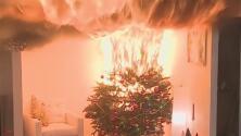 Recomendaciones de seguridad para evitar incendios con el árbol de Navidad