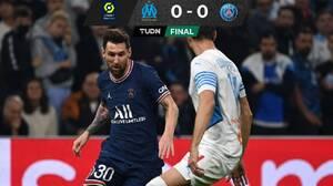 PSG, con Neymar, Messi y Mbappé, no pudo ante el Marsella