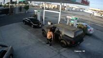 Buscan a hombre que golpeó a una mujer en una estación de gasolina de Gardena