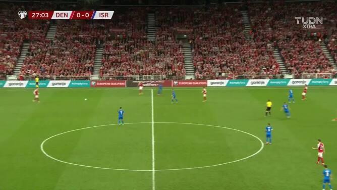 Dinamarca, con un pie en Qatar 2022... Poulsen puso el 1-0 sobre Israel