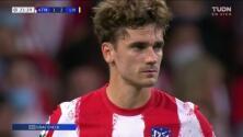 ¡Ya reaccionaron! Griezmann está atento y festeja el 1-2 del Atlético