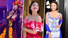 Ángela Aguilar es un ícono de la moda: sus vestidos regionales más espectaculares