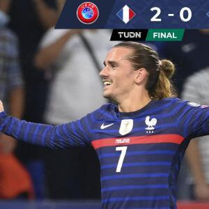 Resumen   Francia doblega 2-0 a Finlandia con un Griezmann explosivo