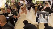 Así lucían Fernanda Gómez y 'Canelo' Álvarez en su boda religiosa