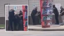 Video capta enfrentamiento entre policía e hispana en gasolinera al noreste de Houston
