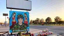 The image of Vanessa Guillen appears on murals across the country