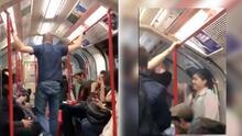 (VIDEO) Grupo de desconocidos salvan a mujer de ataque racista en un tren
