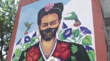 Frida Kahlo se pone a tono en plena pandemia: pintan a la famosa artista usando máscara cubrebocas