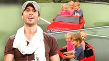 Nicholas, el hijo de Enrique Iglesias, lleva de paseo a sus hermanas en auto convertible y ellas son las más felices