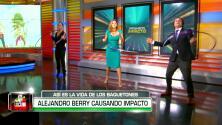Nuestro presentador Alejandro Berry demostró su destreza con el hula-hoop