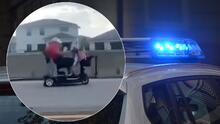 A toda velocidad, hombre de 75 años agarra la Turnpike en su Scooter