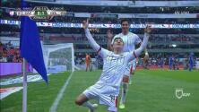 ¡Finalmente llega el gol al Azteca! Ronaldo Cisneros pone la ventaja para Chivas