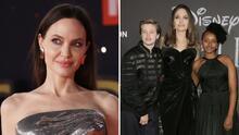 Angelina Jolie apareció con sus hijas en la alfombra roja: Shiloh usó un vestido corto con tenis
