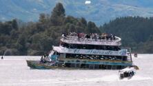 En cuestión de segundos, un barco naufragó en Colombia y más de 150 pasajeros se hundieron con él
