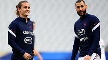 Griezmann y Benzema no entrenan a cuatro días del debut de Francia
