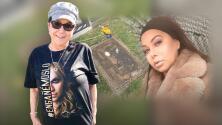"""Con """"presión alta"""", doña Rosa visita la tumba de Jenni Rivera y responde a críticas por felicitar a Chiquis"""