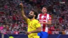 ¡Salah no falla de penal! Engaña a Oblak para el 2-3 del Liverpool