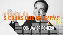 Los 5 secretos mejor guardados que reveló Javier Romero en el 2018