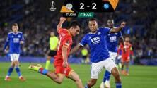 ¡Osimhen y su doblete rescatan al Napoli! Empatan 2-2 ante el Leicester