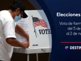 Tú puedes votar por anticipado en California hasta un día antes de las elecciones