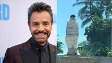 Vandalizan la estatua de Eugenio Derbez a pocos días de ser develada en Acapulco