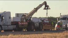 Instalan nuevas vallas de contención por más de cuatro millas en la autopista 41