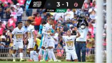 Resumen | Pumas sigue soñando con Liguilla al vencer 3-1 a Tijuana