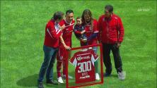 Merecido homenaje: Antonio Ríos alcanzó los 300 partidos con Toluca