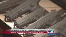 Sacramento podría emitir licencias de portación de armas