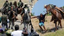 Oficial amenaza con un lazo a inmigrante haitiano en el Río Grande