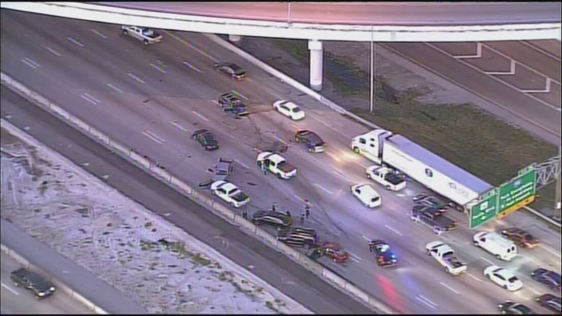 Accidente de tráfico en la I-95 mantiene varios carriles cerrados sentido sur