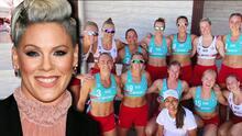 Pink se ofrece a pagar la multa de las jugadoras noruegas de balonmano por no usar el clásico bikini