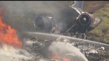 Avión choca y se incendia la mañana de este martes en el condado Waller