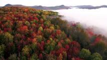 Así se ve desde un drone la llegada de uno de los otoños más espectaculares del mundo