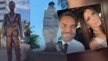 Ponen estatua de Eugenio Derbez en Acapulco y no dura ni una semana: Eugenio Derbez y Alessandra Rosaldo reaccionan al odio que recibieron