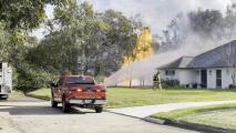Reportan incendio en una tubería de gas en el área de Friendswood