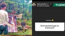 Hijo del Chucho Bénitez confiesa que le gustaría jugar en América
