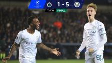 ¡Exhibición total! Manchester City le pega un baile de 1-5 al Brujas