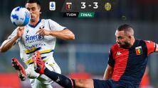 Lluvia de goles en el empate entre Genoa y Verona