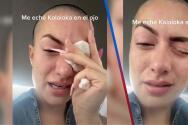 """""""Me quiero morir, mi ojo está pegado"""": Influencer confunde sus gotas con pegamento"""