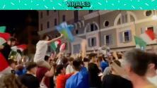 ¡Roma no duerme! Efusivo festejo de los italianos por el pase a la Final