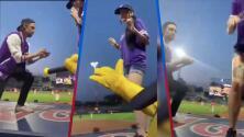 """""""Le dijo que no"""": El video de la fallida propuesta de matrimonio frente a miles de personas en partido de béisbol"""