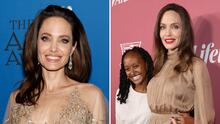 Angelina Jolie le prestó a su hija Zahara el outfit que ella usó en los Oscar: lució muy elegante