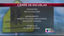 Escuelas que permanecerán cerradas por la tormenta