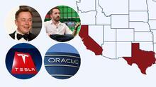 Estas son las empresas y los multimillonarios que se mudan de California a Texas