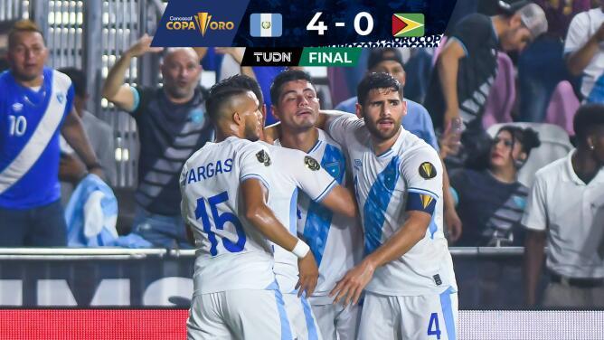 Guatemala aplastó a Guyana y puso un pie en Copa Oro 2021