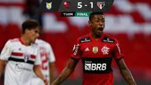 Con 'hat-trick' de Bruno Henrique, Flamengo goleó al Sao Paulo